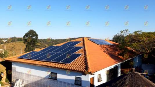 Módulos fotovoltaicos instalados
