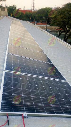 Instalação dos módulos fotovoltaicos