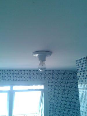 Instalação de luminária