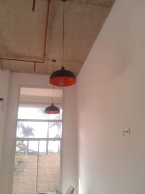 Instalação das luminárias